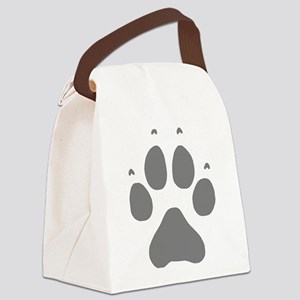 Wolf Paw Print Canvas Lunch Bag