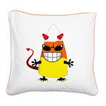 Evil Candy Corn Square Canvas Pillow