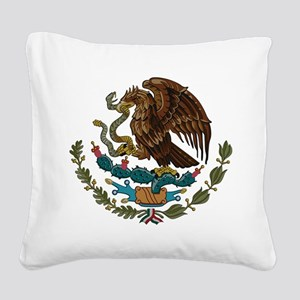 Mexican Coat of Arms Square Canvas Pillow