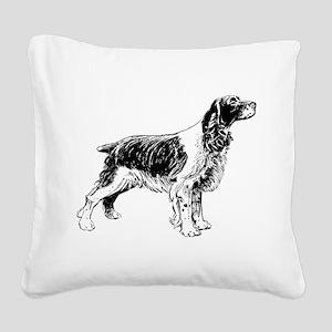 Springer Spaniel Square Canvas Pillow