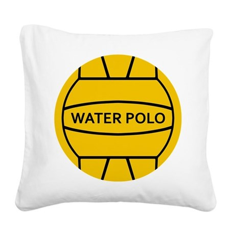 Water Polo Ball Square Canvas Pillow