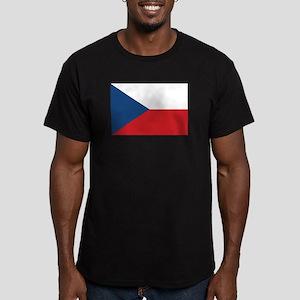 Czech Flag Men's Fitted T-Shirt (dark)