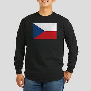 Czech Flag Long Sleeve Dark T-Shirt