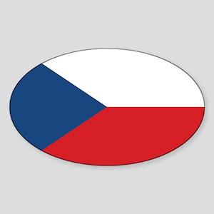 Czech Flag Sticker (Oval)