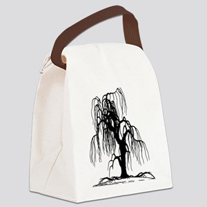 Weeping Willow Tree Canvas Lunch Bag