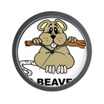 I Love Beavers Wall Clock