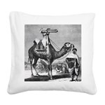 Camel With Machine Gun Square Canvas Pillow