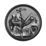 Camel With Machine Gun Large Wall Clock
