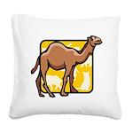 Camel Square Canvas Pillow