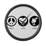 Peace Love Camel Large Wall Clock