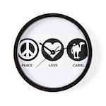 Peace Love Camel Wall Clock