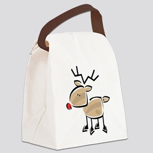 Reindeer Canvas Lunch Bag