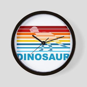 Colorful Dinosaur Wall Clock