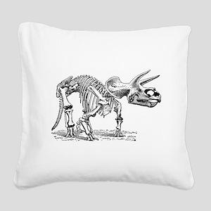 Triceratops Skeleton Square Canvas Pillow