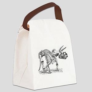 Triceratops Skeleton Canvas Lunch Bag