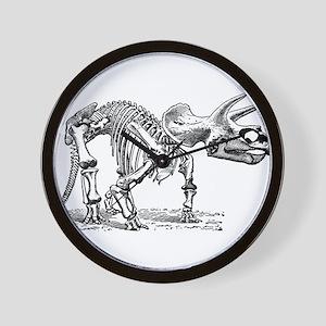 Triceratops Skeleton Wall Clock