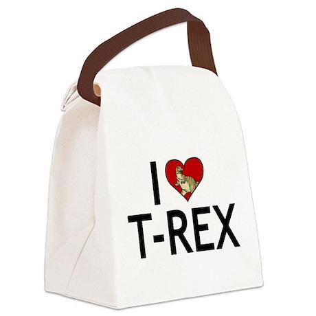 I Love T-Rex Canvas Lunch Bag