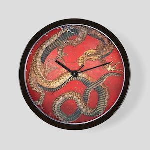 Katsushika Hokusai Dragon Wall Clock
