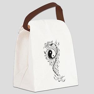 Yin Yang Dragon Canvas Lunch Bag