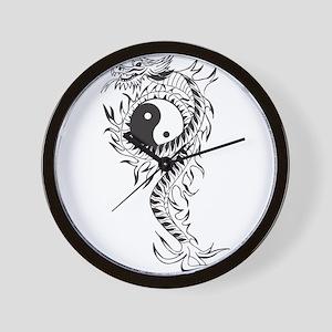 Yin Yang Dragon Wall Clock