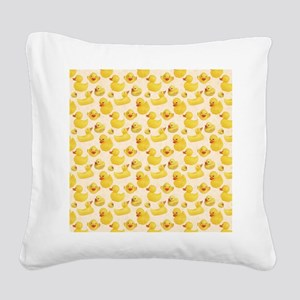 Rubber Duck Square Canvas Pillow