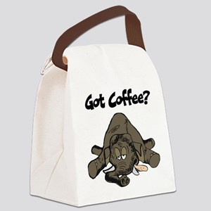 Sleepy Elephant Canvas Lunch Bag