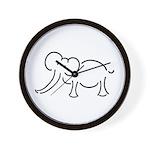Elephant Illustration Wall Clock