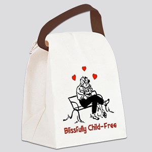 blissfully_childfree01 Canvas Lunch Bag