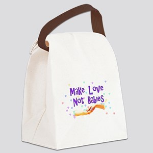 make_love_not_babies01 Canvas Lunch Bag