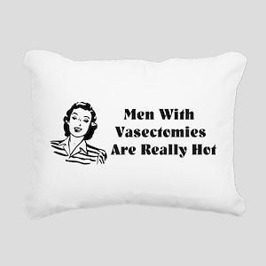Men With Vasectomies Rectangular Canvas Pillow