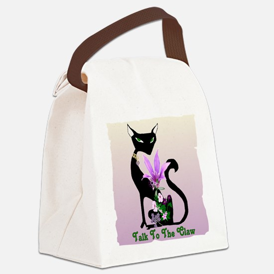 Cat Claw Canvas Lunch Bag