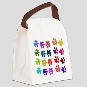rainbowpaws01 Canvas Lunch Bag
