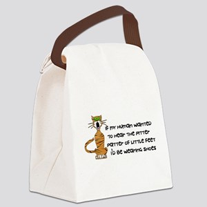 child_free_cat01 Canvas Lunch Bag