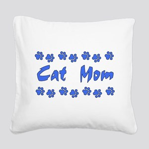 catmom01 Square Canvas Pillow