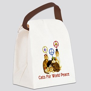 peacecats01 Canvas Lunch Bag