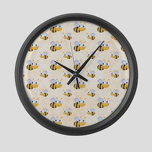 Cute Bee Large Wall Clock