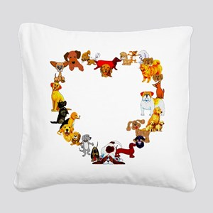 dogheart01 Square Canvas Pillow