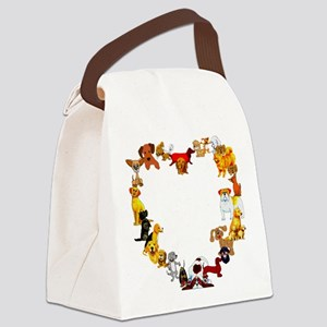 dogheart01 Canvas Lunch Bag