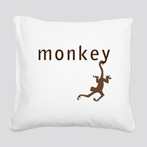 Classic Monkey Square Canvas Pillow