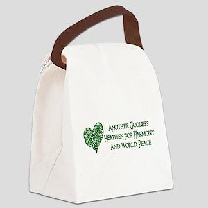 Godless Heathen For Peace Canvas Lunch Bag