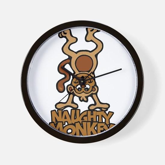 Naughty Monkey Wall Clock