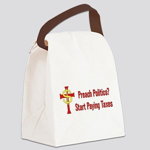 Tax The Churches Canvas Lunch Bag