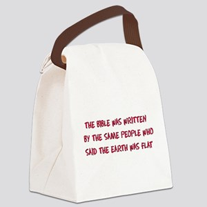 Flat Earth Bible Canvas Lunch Bag