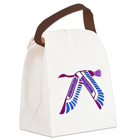 Strong Woman Flying Canvas Lunch Bag