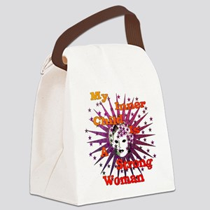 Inner Child Strong Woman Canvas Lunch Bag