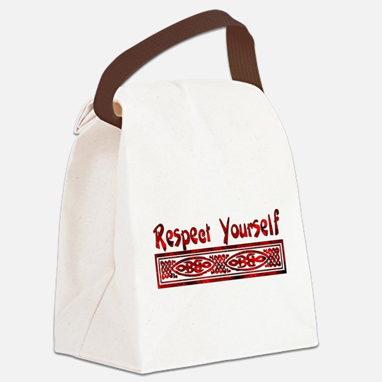 respect_yourself01.png Canvas Lunch Bag