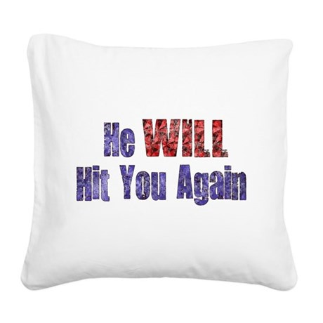 abuse022.png Square Canvas Pillow
