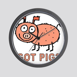 Got Pig Wall Clock