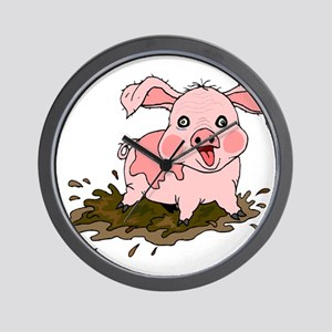 Naughty Pig Wall Clock