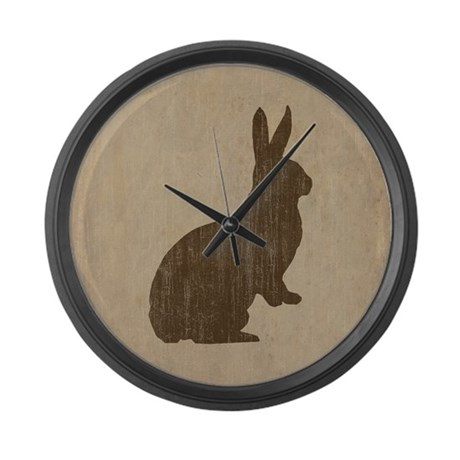 Vintage Rabbit Large Wall Clock